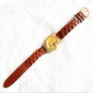 Disney Winnie The Pooh Watch Brown Leather